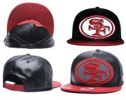 Wholesale Cheap NFL San Francisco 49ers Fresh Logo Black Reflective Adjustable Hat A189