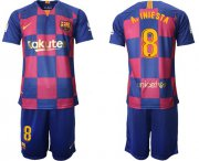 Wholesale Cheap Barcelona #8 A.Iniesta 20th Anniversary Edition Home Soccer Club Jersey