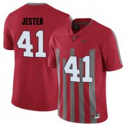 Wholesale Cheap Ohio State Buckeyes 41 Hayden Jester Red Elite College Football Jersey