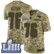 Wholesale Cheap Nike Patriots #76 Isaiah Wynn Camo Super Bowl LIII Bound Men's Stitched NFL Limited 2018 Salute To Service Jersey