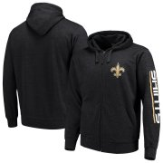 Wholesale Cheap New Orleans Saints G-III Sports by Carl Banks Post Route Full-Zip Hoodie Charcoal