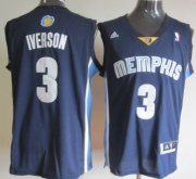 Wholesale Cheap Memphis Grizzlies #3 Allen Iverson Revolution 30 Swingman Navy Blue Jersey