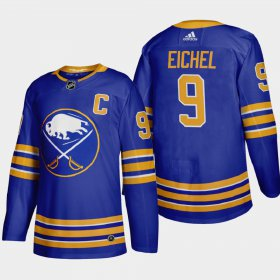 Cheap Buffalo Sabres #9 Jack Eichel Men\'s Adidas 2020-21 Home Authentic Player Stitched NHL Jersey Royal Blue