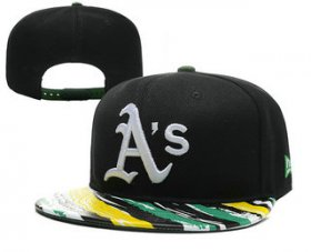 Wholesale Cheap MLB Oakland Athletics Snapback Ajustable Cap Hat 4