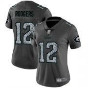 Wholesale Cheap Nike Packers #12 Aaron Rodgers Gray Static Women's Stitched NFL Vapor Untouchable Limited Jersey