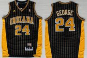 Wholesale Cheap Indiana Pacers #24 Paul George Navy Blue Pinstirpe Swingman Throwback Jersey