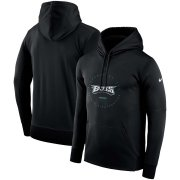 Wholesale Cheap Philadelphia Eagles Nike Sideline Property Of Wordmark Logo Performance Pullover Hoodie Black