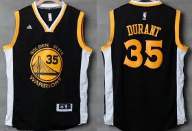 Wholesale Cheap Men\'s Golden State Warriors #35 Kevin Durant Black With White Edge Stitched NBA Adidas Revolution 30 Swingman Jersey