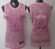 Wholesale Cheap Oklahoma City Thunder #35 Kevin Durant Pink Womens Jersey