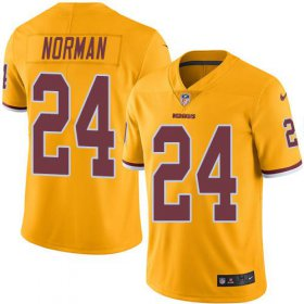 Wholesale Cheap Nike Redskins #24 Josh Norman Gold Youth Stitched NFL Limited Rush Jersey