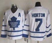Wholesale Cheap Maple Leafs #7 Tim Horton White CCM Throwback Stitched NHL Jersey