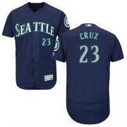 Wholesale Cheap Mariners #23 Nelson Cruz Navy Blue Flexbase Authentic Collection Stitched MLB Jersey