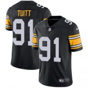Wholesale Cheap Nike Steelers #91 Stephon Tuitt Black Alternate Youth Stitched NFL Vapor Untouchable Limited Jersey