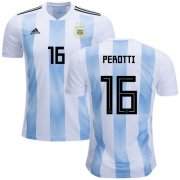 Wholesale Cheap Argentina #16 Perotti Home Soccer Country Jersey
