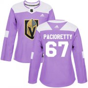 Wholesale Cheap Adidas Golden Knights #67 Max Pacioretty Purple Authentic Fights Cancer Women's Stitched NHL Jersey