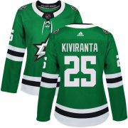 Cheap Adidas Stars #25 Joel Kiviranta Green Home Authentic Women's Stitched NHL Jersey