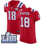 Wholesale Cheap Nike Patriots #18 Matt Slater Red Alternate Super Bowl LIII Bound Men's Stitched NFL Vapor Untouchable Elite Jersey