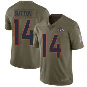 Wholesale Cheap Nike Broncos #14 Courtland Sutton Olive Men's Stitched NFL Limited 2017 Salute To Service Jersey