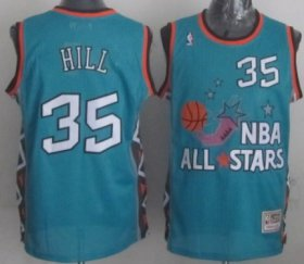 Wholesale Cheap NBA 1996 All-Star #35 Grant Hill Green Swingman Throwback Jersey