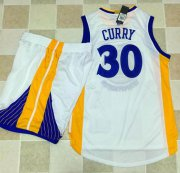 Wholesale Cheap Warriors #30 Stephen Curry White A Set Stitched NBA Jersey