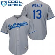 Wholesale Cheap Dodgers #13 Max Muncy Grey New Cool Base Stitched MLB Jersey