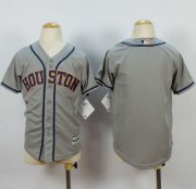 Wholesale Cheap Astros Blank Grey Cool Base Stitched Youth MLB Jersey