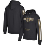 Wholesale Cheap New Orleans Saints Mitchell & Ness Three Stripe Pullover Hoodie Black
