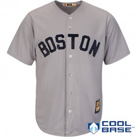 Wholesale Cheap Boston Red Sox Majestic Cooperstown Cool Base Team Jersey Gray