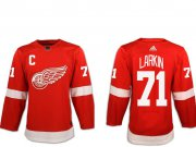 Wholesale Cheap Adidas Men's Detroit Red Wings #71 Dylan Larkin Red with C Patch Home Authentic Stitched NHL Jersey
