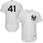 Wholesale Cheap Yankees #41 Miguel Andujar White Strip Flexbase Authentic Collection Stitched MLB Jersey