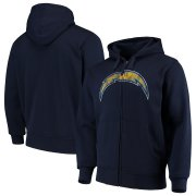Wholesale Cheap Los Angeles Chargers G-III Sports by Carl Banks Primary Logo Full-Zip Hoodie Navy