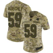 Wholesale Cheap Nike Panthers #59 Luke Kuechly Camo Women's Stitched NFL Limited 2018 Salute to Service Jersey
