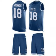 Wholesale Cheap Nike Colts #18 Peyton Manning Royal Blue Team Color Men's Stitched NFL Limited Tank Top Suit Jersey