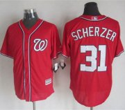 Wholesale Cheap Nationals #31 Max Scherzer Red New Cool Base Stitched MLB Jersey
