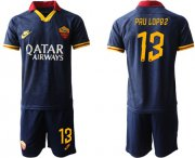 Wholesale Cheap Roma #13 Pau Lopez Third Soccer Club Jersey