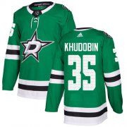 Cheap Adidas Stars #35 Anton Khudobin Green Home Authentic Youth Stitched NHL Jersey