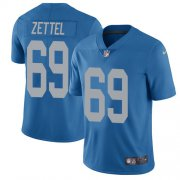 Wholesale Cheap Nike Lions #69 Anthony Zettel Blue Throwback Youth Stitched NFL Vapor Untouchable Limited Jersey