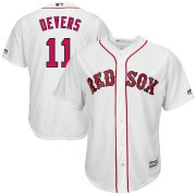 Wholesale Cheap Boston Red Sox #11 Rafael Devers Majestic Home Official Cool Base Player Jersey White