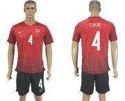 Wholesale Cheap Turkey #4 Calik Home Soccer Country Jersey