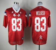 Wholesale Cheap Patriots #83 Wes Welker Red 2012 Pro Bowl Stitched NFL Jersey