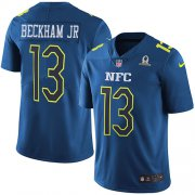 Wholesale Cheap Nike Giants #13 Odell Beckham Jr Navy Youth Stitched NFL Limited NFC 2017 Pro Bowl Jersey