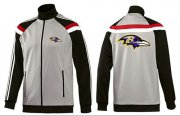 Wholesale Cheap NFL Baltimore Ravens Team Logo Jacket Grey