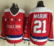 Wholesale Cheap Capitals #21 Dennis Maruk Red Alternate CCM Throwback Stitched NHL Jersey
