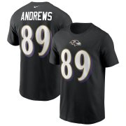 Wholesale Cheap Baltimore Ravens #89 Mark Andrews Nike Team Player Name & Number T-Shirt Black
