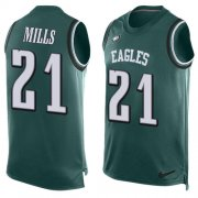 Wholesale Cheap Nike Eagles #21 Jalen Mills Green Team Color Men's Stitched NFL Limited Tank Top Jersey