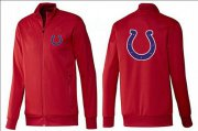 Wholesale NFL Indianapolis Colts Team Logo Jacket Red