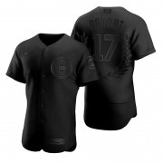 Wholesale Cheap Chicago Cubs #17 Kris Bryant Men's Nike Black MLB MVP Limited Player Edition Jersey