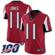 Wholesale Cheap Nike Falcons #11 Julio Jones Red Team Color Men's Stitched NFL 100th Season Vapor Limited Jersey