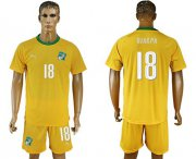 Wholesale Cheap Cote d'lvoire #18 Djakpa Home Soccer Country Jersey
