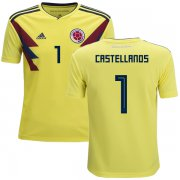 Wholesale Cheap Colombia #1 Castellanos Home Kid Soccer Country Jersey